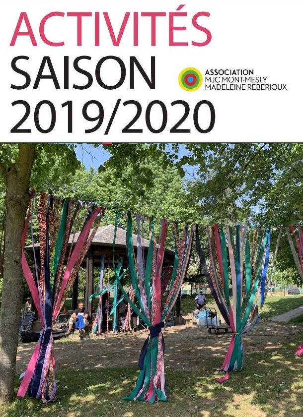 Plaquette d'activités 2019-2020