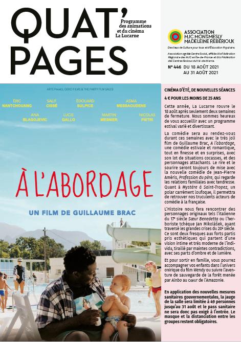 Quat'Pages août 2021